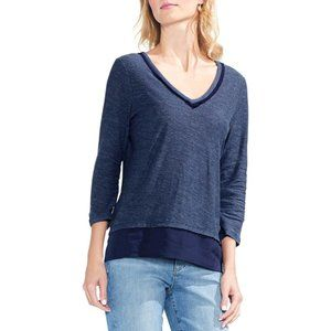 Vince Camuto layered look 3/4 sleeve top